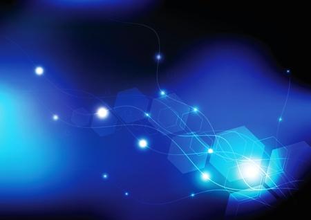 mirage: glowing optical line Illustration