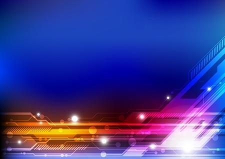 electric line technology concept