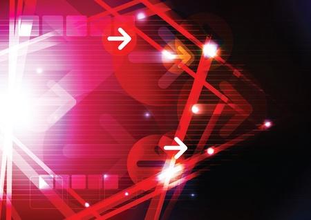 mirage: red arrow background design
