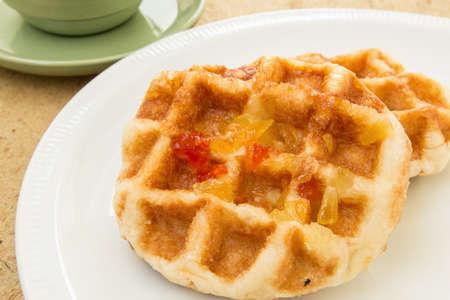 waffles on dish photo