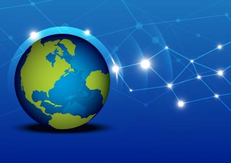 Globalization network Stock Vector - 13663470