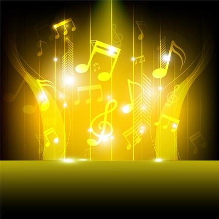 muziekfestival achtergrond Stock Illustratie