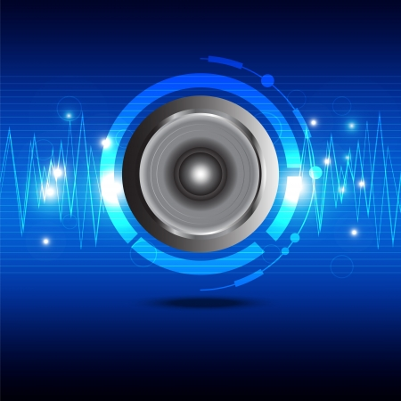 sonic: digital sound wave from speaker