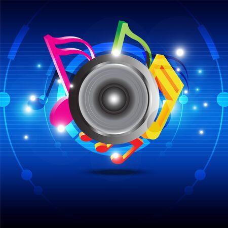 sonic: Music festival design Illustration