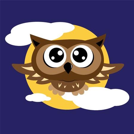 owl cute: Owl flying