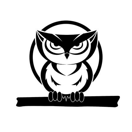 black and white owl Stock Vector - 13914626