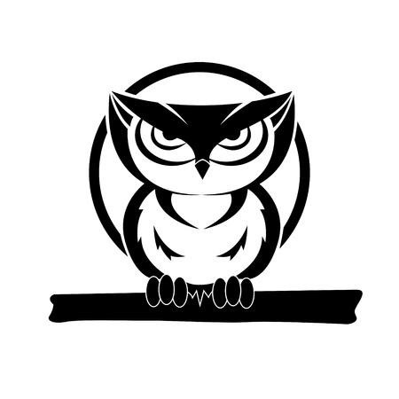 sowa: czarno-biała sowa