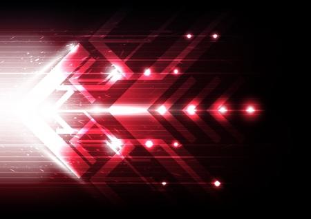 espejismo: movimiento de la flecha roja Vectores