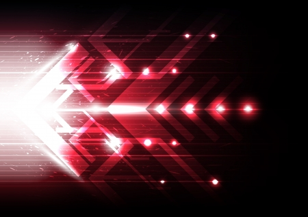 red motion arrow Vector