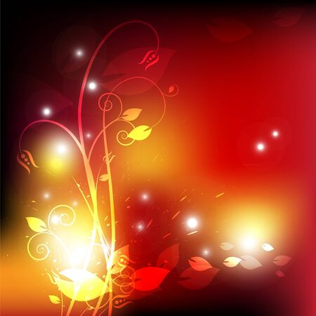 flower in fire Vector