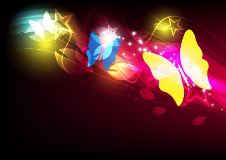 butterfly layout design Stock Vector - 14392057