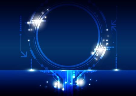 multimedia background: hi-tech circle frame design