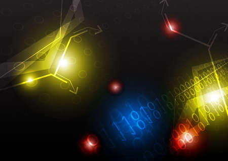 communicate concept: technology abstract background Illustration