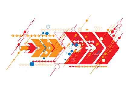 illustration line art: fantastic arrow abstract