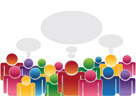 conversing: crowd thinking