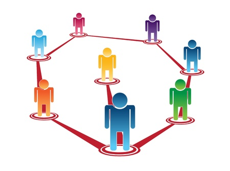 conversing: vector of crowd thinking and leader