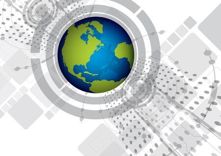 wereldwijde digitale achtergrond ontwerp