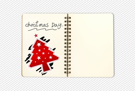 blank open note book on pattern background; contain clipping path photo