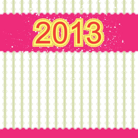2013 new year banner retro design Vector