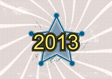 star and 2013 new year background design Vector