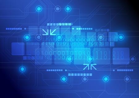 technologie achtergrond ontwerp Stock Illustratie