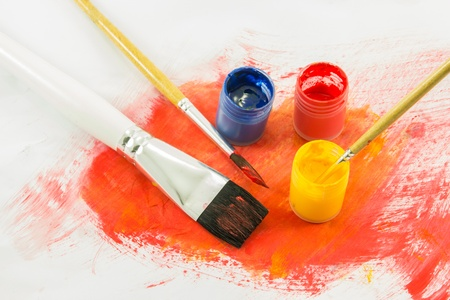 color paint background and brush photo