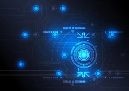 technology: Botão moderno e tecnologia de projeto fundo