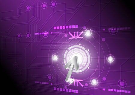 multimedia background: modern button and technology background design Illustration