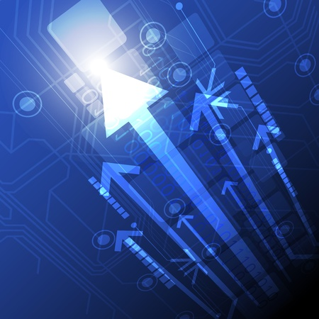 digital future technology background Stock Vector - 15235521