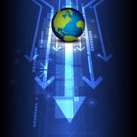 wereldbol digitale technologie van de toekomst Stock Illustratie