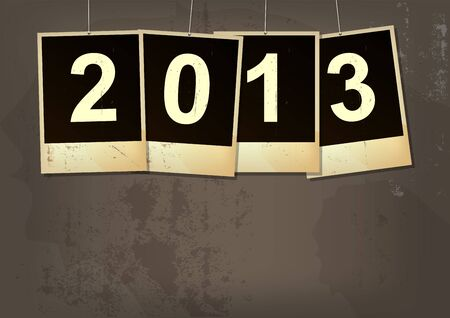 new year 2013 grunge background Stock Vector - 15235513