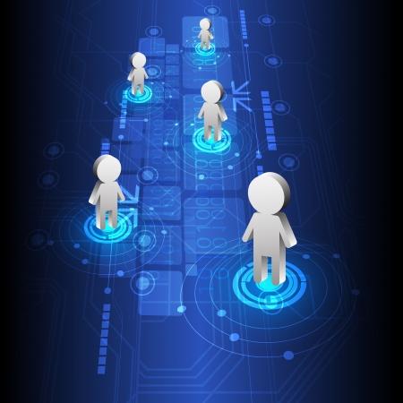 telecomunicaci�n: personas de posicionamiento y dise�o de tecnolog�a