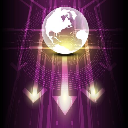 transparent globe digital future technology Stock Vector - 15237770