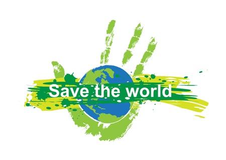 mani terra: salvare concetto del mondo