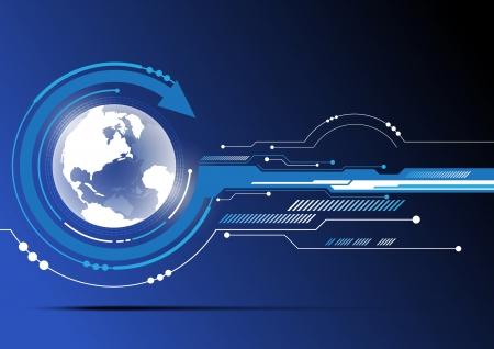 tecnologia: globo e sfondo tecnologia di progettazione