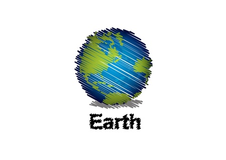 sketch the earth handwriting style Stock Vector - 15237748