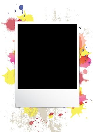 old paper texture: picture frame on splatter background