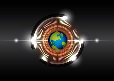 future digital technology and globe Stock Vector - 15352261