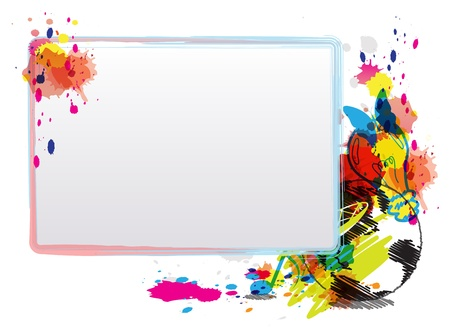 abstract art design with frame Stock Vector - 15352248