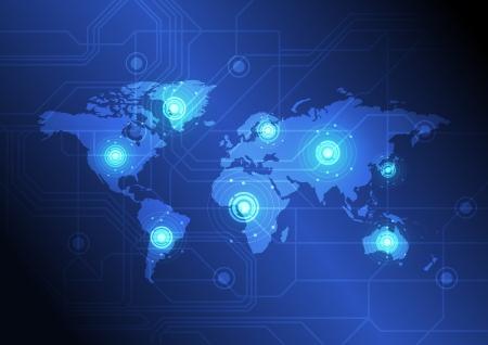 wereldwijde communicatie concept Stock Illustratie