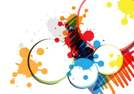 ink paint banner design Stock Vector - 15352202