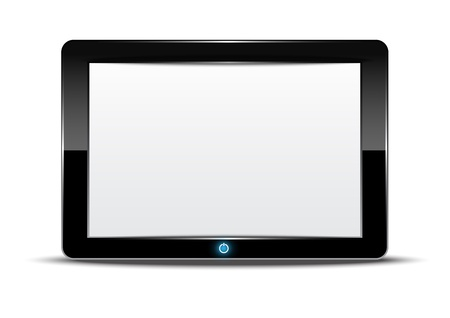 Tablet computer with white background