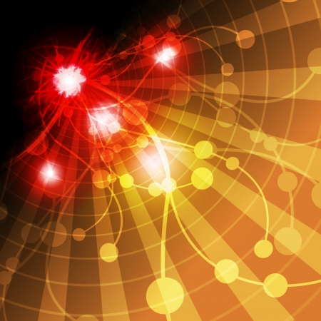 abstract explosion and wave background Vector