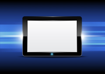 Tablet computer with shiny background Stock Vector - 15473964