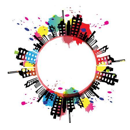 ink splash: art banner urban design with ink splash