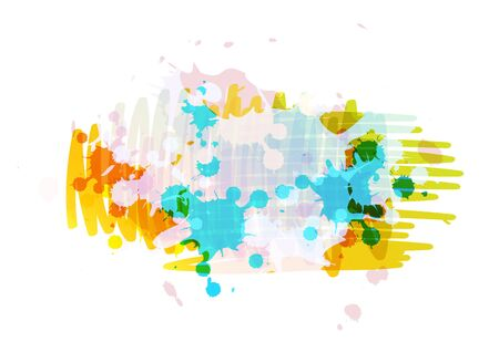 banner background design with ink splatter Stock Vector - 15474024