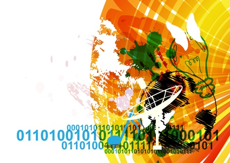 urban communication concept background Stock Vector - 15474097