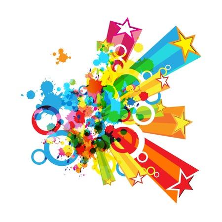 abstracte kleurrijke festival decoratie achtergrond Stock Illustratie