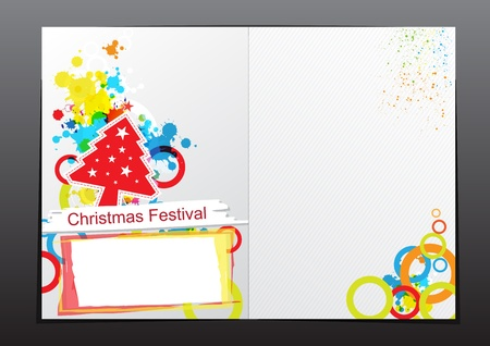 christmas celebration brochure design Stock Vector - 15641782