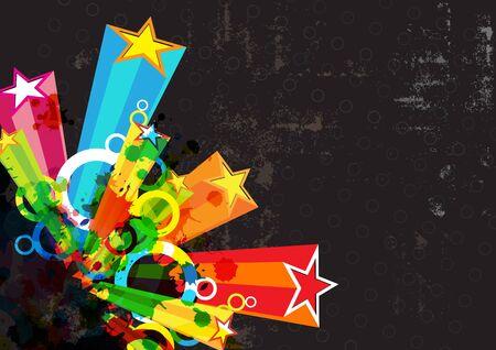 star festival grunge background Stock Vector - 15641783
